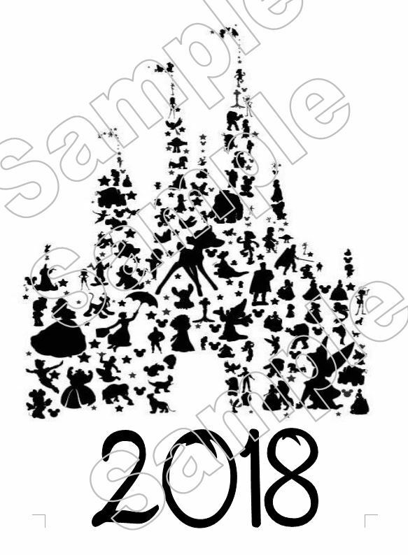 Disney Castle Characters 2018 Vacation Iron On Tshirt