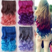 fashion gradient color hair extensions