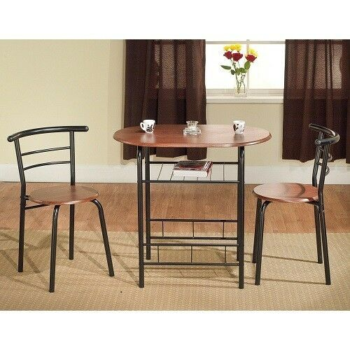 3 Piece Bistro Set Small Kitchen Table 2 Chairs Living