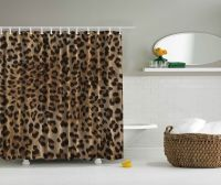 Leopard Animal Print Digital Fabric Shower Curtain Wild ...