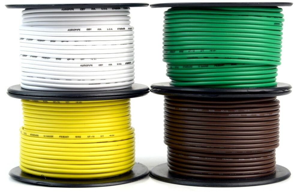 hight resolution of details about 4 way flexible cord trailer wire harness light cable led 18 gauge 100ft 4 colors
