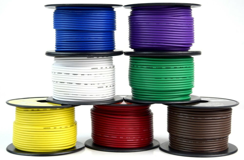 hight resolution of details about 7 way flexible cord trailer wire harness light cable led 18 gauge 100ft 7 colors