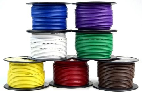 small resolution of details about 7 way flexible cord trailer wire harness light cable led 18 gauge 100ft 7 colors