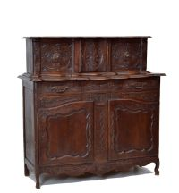 5509006 : Antique French Country Sideboard Cabinet
