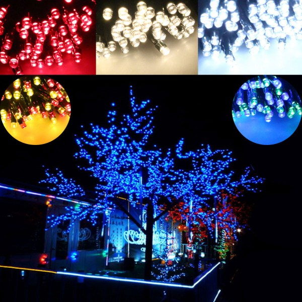 200 Colorful Led Solar String Lights Multi Christmas Tree Outdoor Fairy Dt2