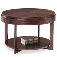 Small Coffee Table Round Wood Apartment Condo Space Saving ...