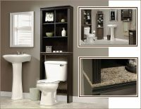 Bathroom Storage Cabinet Tall Linen Towel Over Toilet Wood ...