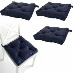 Navy Blue Patio Chair Cushions Best Chairs Inc Power Lift Recliner Parts Set Of 4 Pads Machine Washable | Ebay
