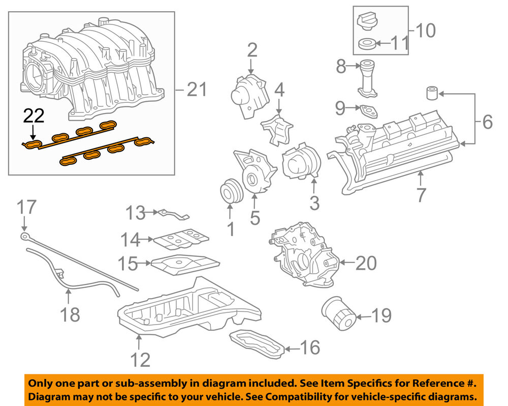 hight resolution of details about toyota oem engine intake manifold gasket 1717150030