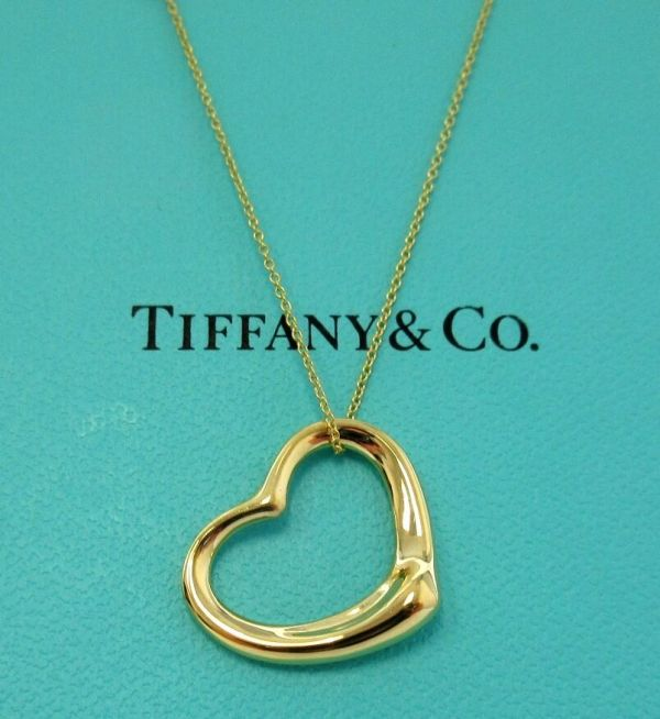 Tiffany & . 18k Gold Elsa Peretti Open Heart Pendant