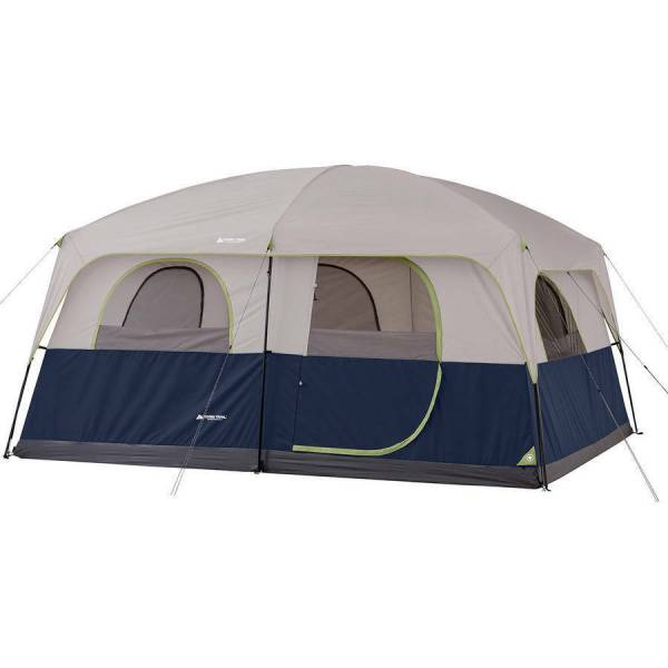 10 Person Camping Tent 3 Room Enlarged Waterproof Outdoor Family Shelter