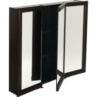 "24W X 26""H Surface Mount Espresso Wood Medicine Cabinet"