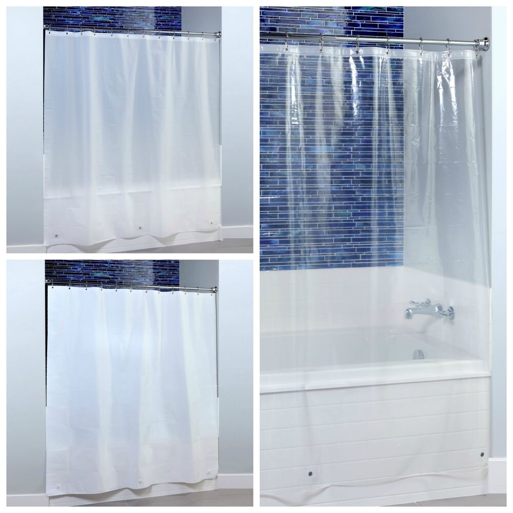 70 x 72 Midweight PEVA Shower Curtain Liner with