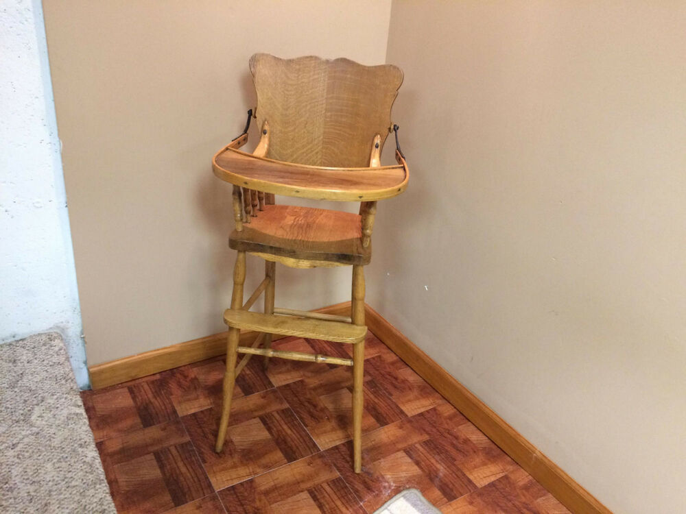 antique high chair  eBay