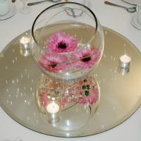 Clear Mirror Base for Centerpieces, Round, Square