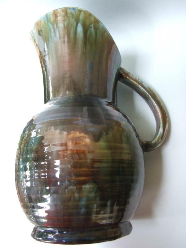 Huge Australian Pottery Regal Mashman Water JugVase Drip