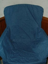 Pottery Barn Blue Denim Arm (Captain) Chair Cover ...