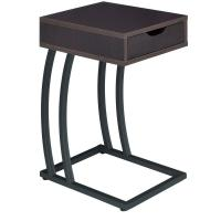 Cappuccino Finish Accent Table with Outlets & USB Ports by ...