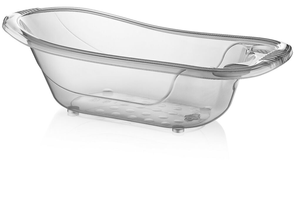 Large 50 Litre Aqua CLEAR Transparent Baby Bath Tub EBay