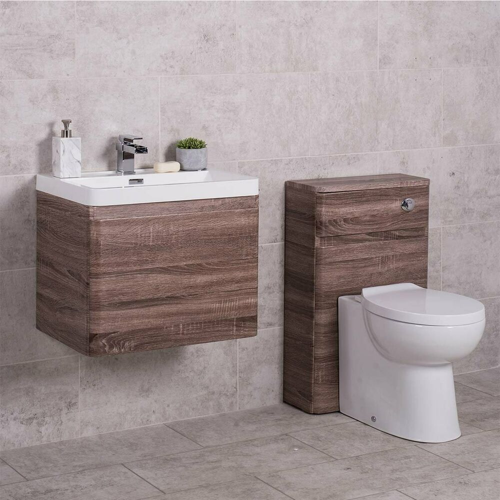 Oak Bathroom Vanity Unit Wall Mounted and Toilet Furniture