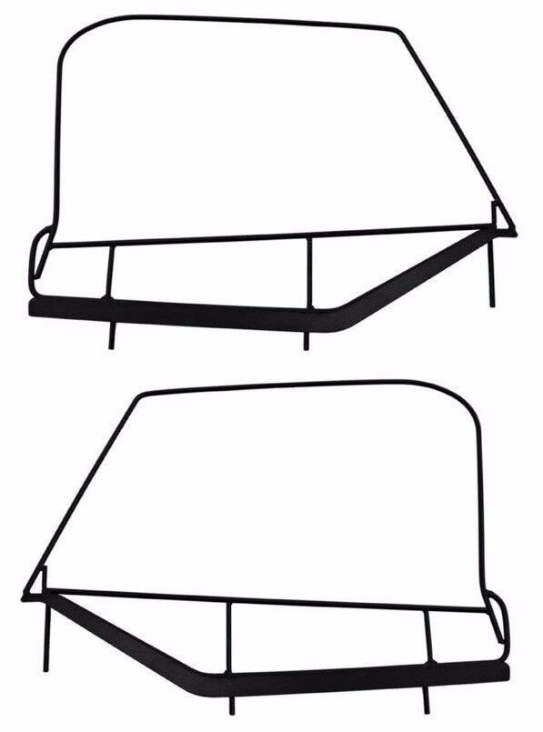 Rampage Soft Upper Door Window Frame Set 1997-2006 Jeep