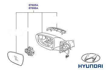 Genuine Hyundai i40 Tourer Door Mirror LH Passenger side