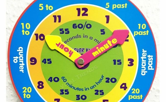 Children Teaching Clock Learning To Tell Time Magnetic