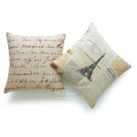 Throw Pillow Cover French Country Vintage 1700s Script ...