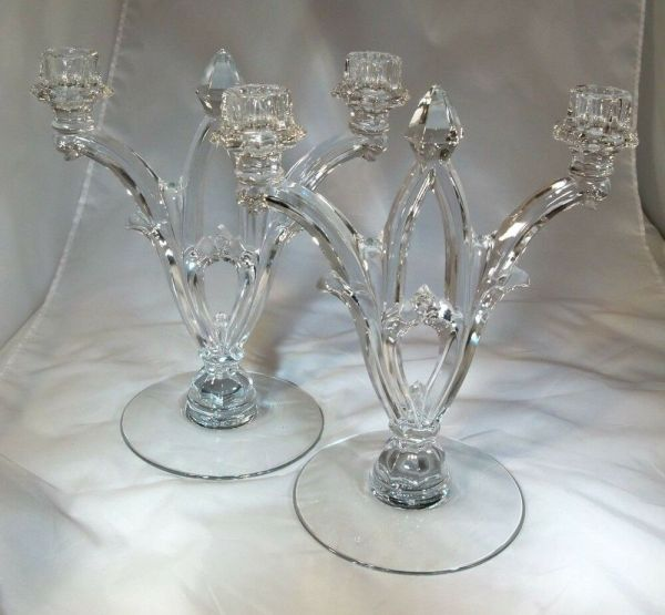 Glass Tall Crystal Candelabra