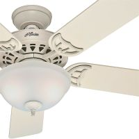 "Hunter 52"" 5 Blade Ceiling Fan with Light, French Vanilla"