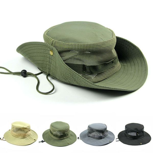 Men Bucket Boonie Sun Hat Women Waterproof Wide Brim