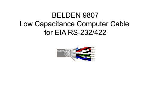 Belden 9807 500FT. Low Capacitance Computer Cable for EIA