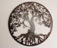 "Tree of Life Metal Art, 30"", Wall Decor 