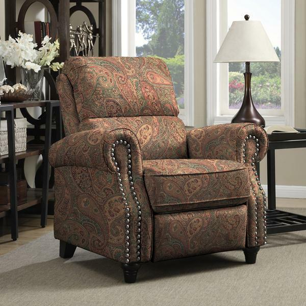 ProLounger Paisley Push Back Recliner Chair Living Room