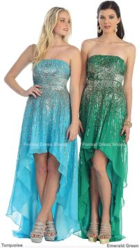 SALE ! NEW SEQUIN HIGH LOW PROM DRESS EVENING ENGAGEMENT ...
