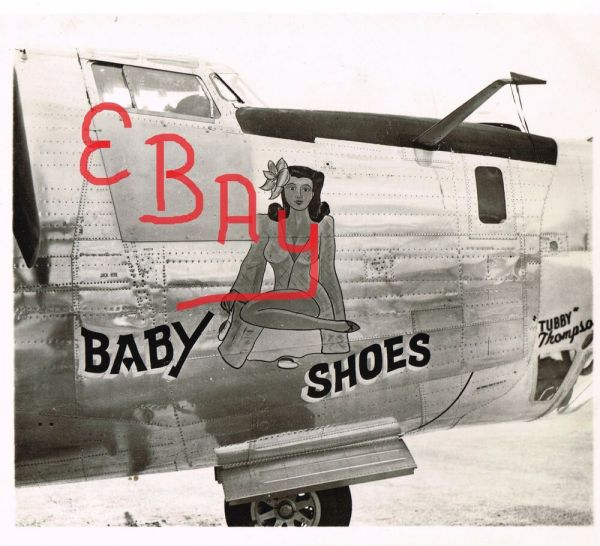 "Wwii Nose Art 8x10 -24 Bomber ""baby Shoes"