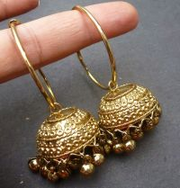 Indian Bridal gold Plated South Traditional Earrings ...
