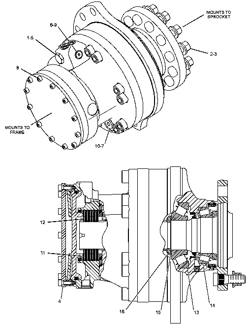 FINAL DRIVE MOTOR / BRAND NEW / RC50 / RC60 / PT50 / 247
