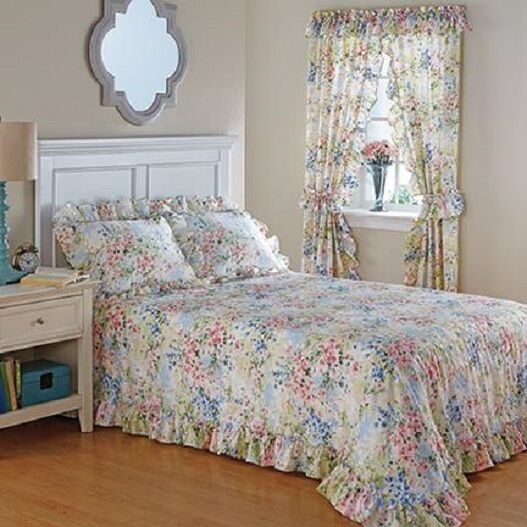 French Countryside Water Colors Bedroom Bed Spread