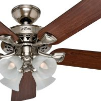 Hunter 52 Traditional Large Room Brushed Nickel Finish ...