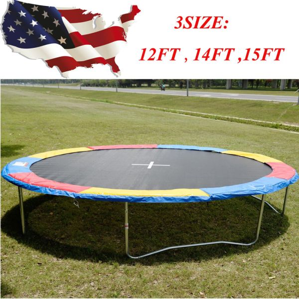 12ft 14ft 15ft Trampoline Safety Pad Epe Foam Spring Cover Frame Replacement