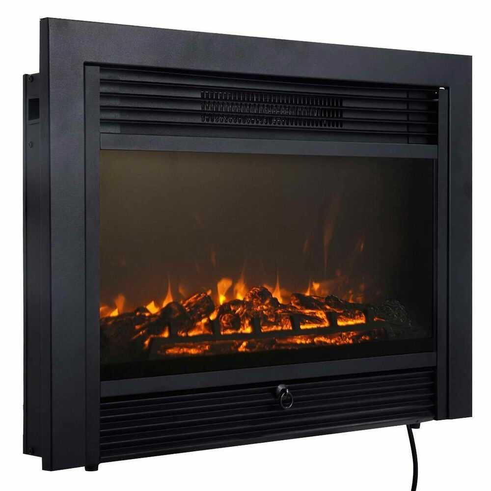 285 Fireplace Electric Embedded Insert Heater Glass View Log Flame Remote Home  eBay