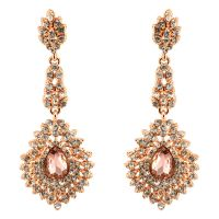 277-ROSE GOLD Party & Wedding Jewelry Drop Dangle ...