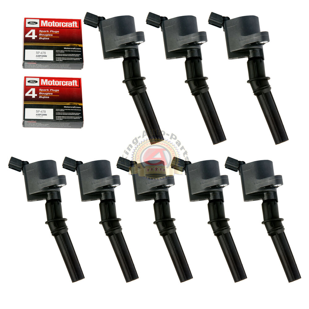 hight resolution of 8 pack ignition coil dg508 motorcraft spark plug sp479 for ford lincoln mercury ebay