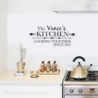 Personalized Cooking Since Family Name Kitchen Wall Decal ...