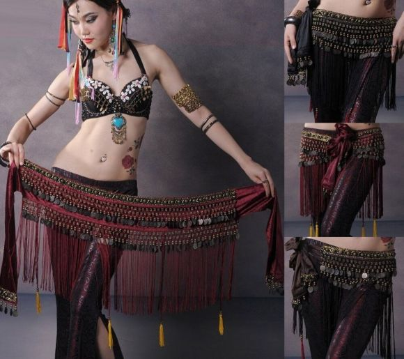 Belly Dance Belt Belly Dance Costume Copper Hip Scarf ...