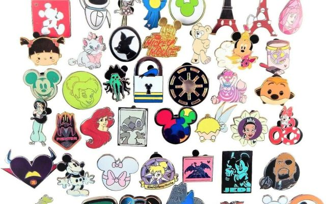 Disney Pin Trading Lot Of 20 Assorted Pins Brand New
