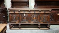 5508009 : Large Antique Spanish Style Carved Oak Sideboard
