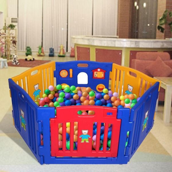 Baby Playpen 6 Panel Safety Play Center Yard Home Indoor