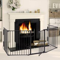 Fireplace Fence Baby Safety Fence Hearth Gate Pet Cat Dog